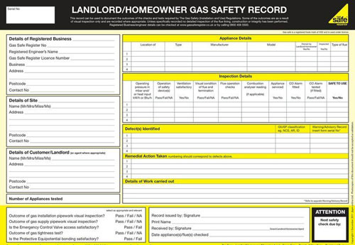 Domestic Gas Safety Certificates London
